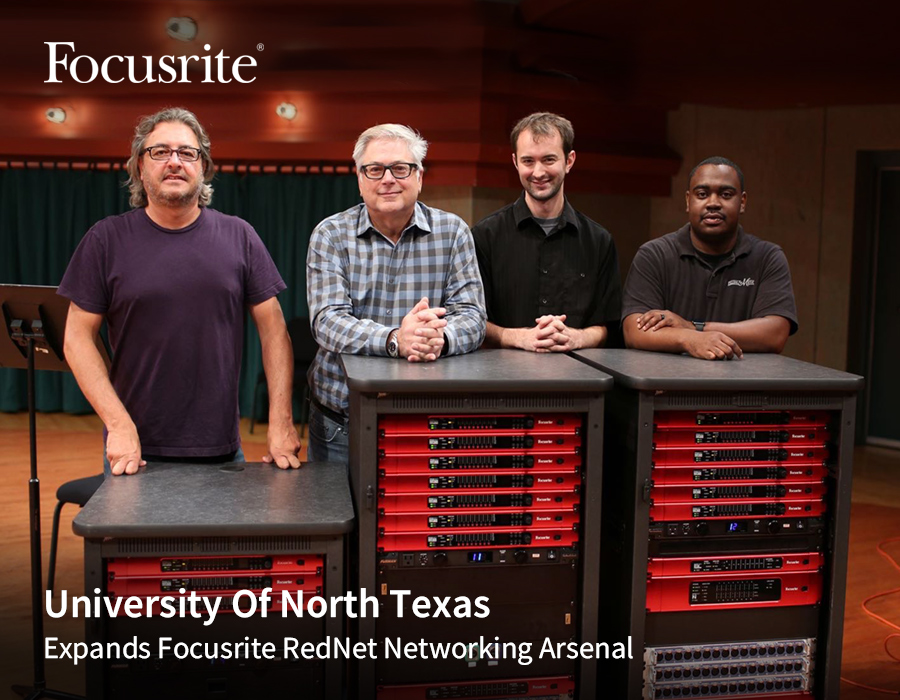 University Of North Texas Expands Focusrite RedNet Networking Arsenal