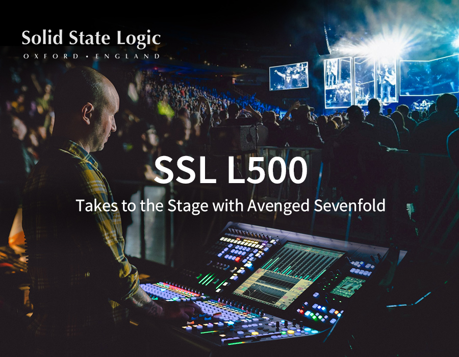 SSL L500 Takes to the Stage with Avenged Sevenfold