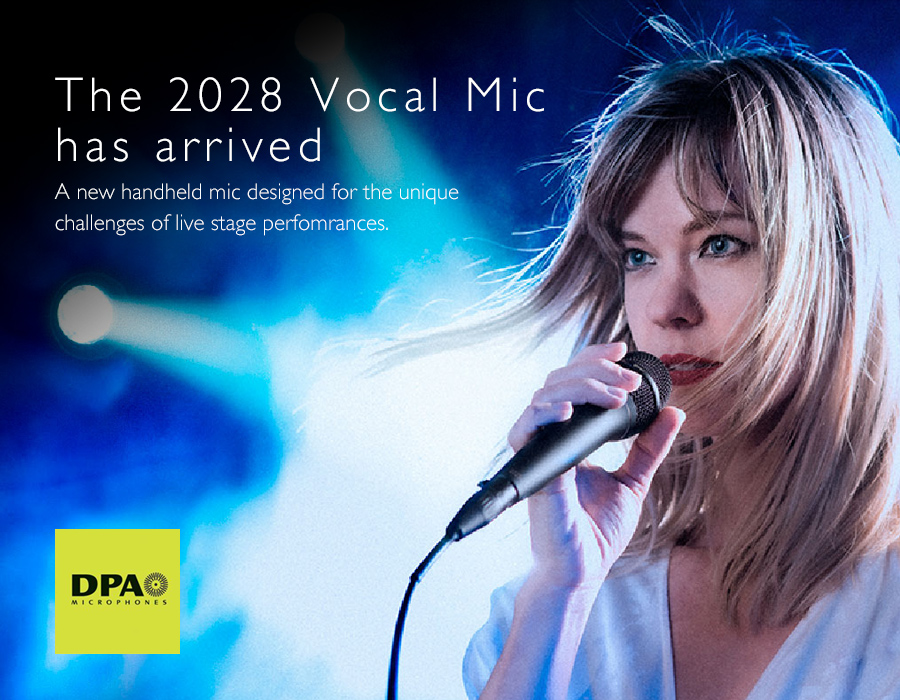 New DPA 2028 Vocal Mic Aims to Change the Live Performance Landscape
