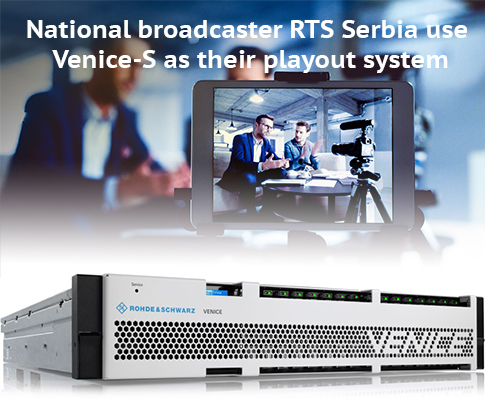 National broadcaster RTS Serbia use Venice-S as their playout system