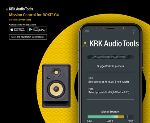 KRK Audio Tools app now available on iOS and Android