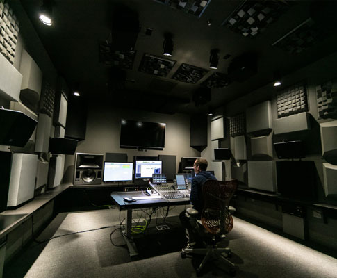 Dolby Atmos: business and technology -- system setup of small, medium and large post production equipment